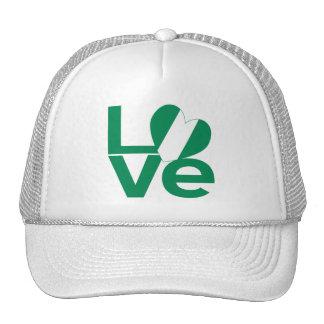 Nigeria LOVE Green Trucker Hat