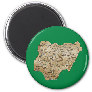 Nigeria Map Magnet