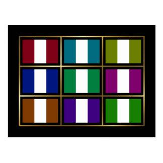 Nigeria Multihue Flags Postcard