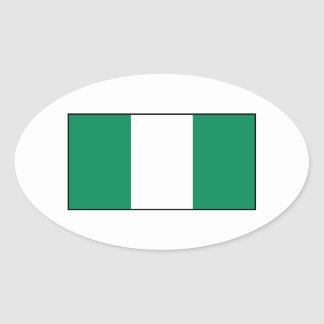 Nigeria - Nigerian Flag Oval Sticker