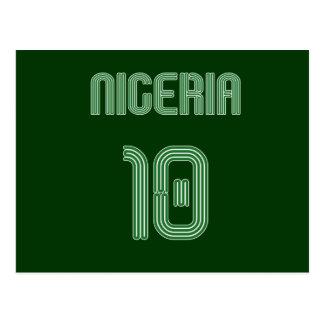 Nigeria No 10 soccer football Naija fans gifts Postcard
