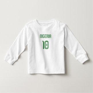 Nigeria No 10 soccer football Naija fans gifts Toddler T-shirt