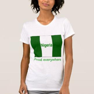 Nigeria orgulloso por todas partes camiseta