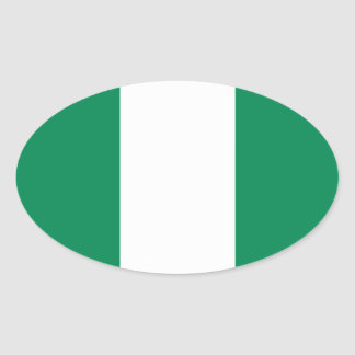 Nigeria Oval Flag Sticker