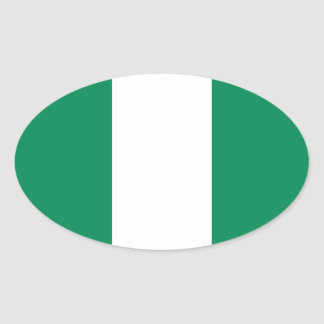 Nigeria Oval Sticker