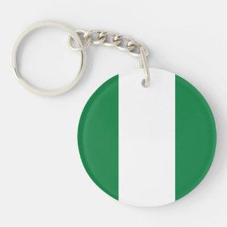Nigeria Plain Flag Acrylic Key Chain