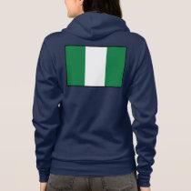 Nigeria Plain Flag Hoodie
