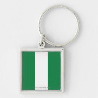 Nigeria Plain Flag Key Chains