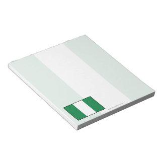 Nigeria Plain Flag Note Pad