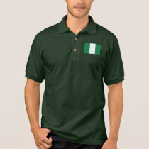 Nigeria Plain Flag Polo Shirt