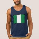 Nigeria Plain Flag Tanktops