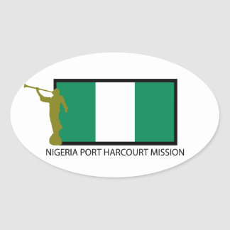 NIGERIA PORT HARCOURT MISSION LDS CTR OVAL STICKER