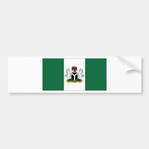 Nigeria President Flag Car Bumper Sticker