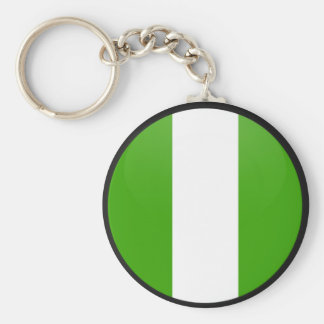Nigeria quality Flag Circle Keychain