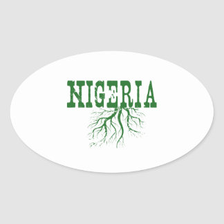 Nigeria Roots Oval Sticker