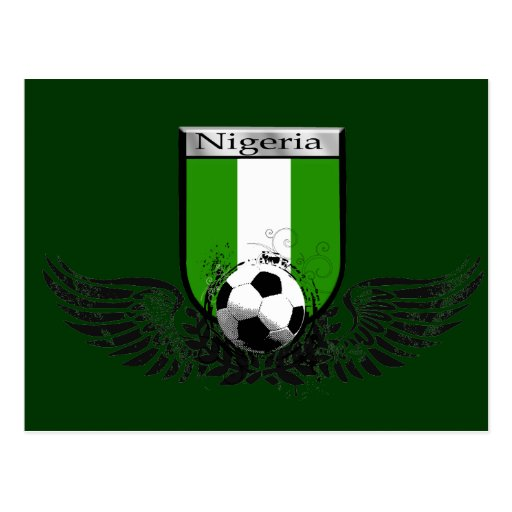 Nigeria se fue volando el escudo del emblema del f tarjetas postales