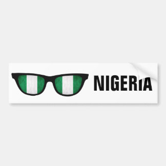 Nigeria Shades custom text & color bumpersticker Bumper Sticker