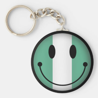 Nigeria Smiley Key Chains