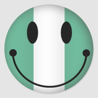 Nigeria Smiley Classic Round Sticker