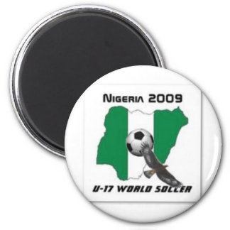 Nigeria soccer 2 inch round magnet