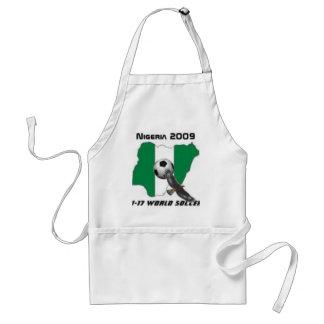 Nigeria soccer adult apron