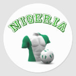 Nigeria soccer bust football gifts and tees stickers
