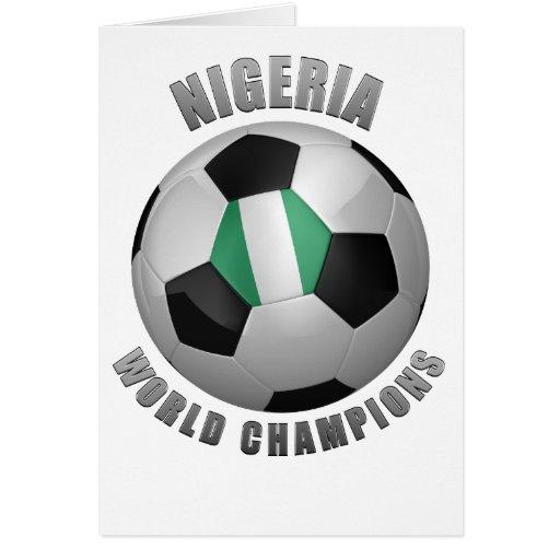 NIGERIA SOCCER CHAMPIONS CARD