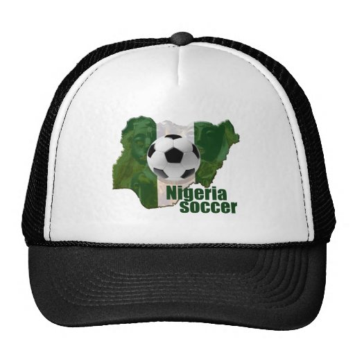 Nigeria soccer culture Map of Nigeria gifts Mesh Hats