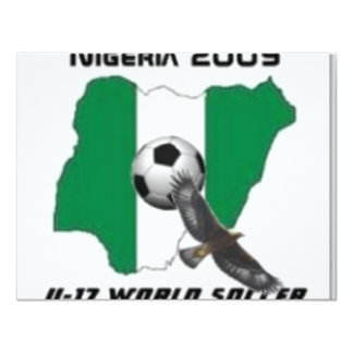 "Nigeria soccer 4.25"" x 5.5"" invitation card"