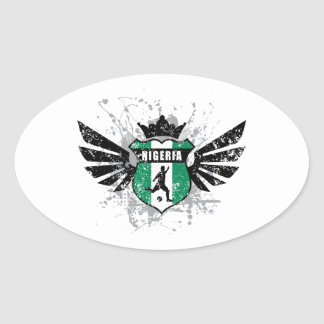 Nigeria soccer oval sticker