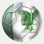 Nigeria Soccer T-shirts Round Sticker