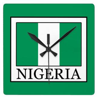 Nigeria Square Wall Clock