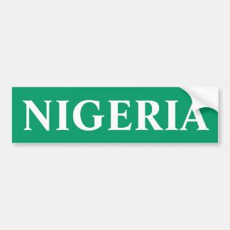 Nigeria Super Eagles Bumper Sticker