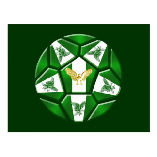 Nigeria Super Eagles soccer ball Naija flag gifts Postcard