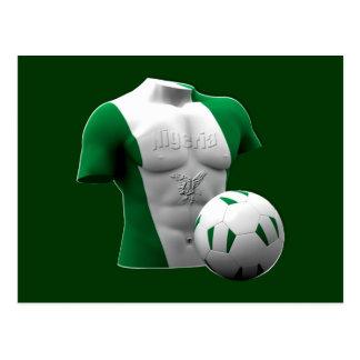 Nigeria torso flag soccer football gifts postcard