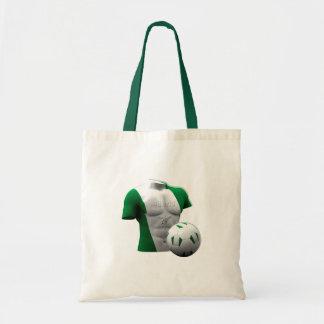 Nigeria torso flag soccer football gifts tote bag