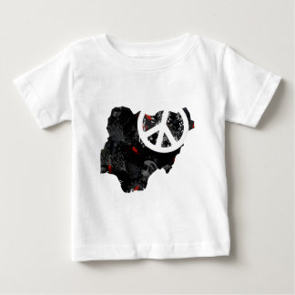 Nigeria Trendy Peace Sign with Nigerian map Tees