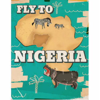 Nigeria Vintage Travel poster Cutout