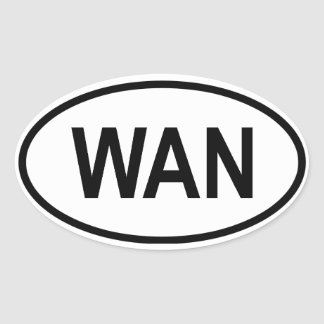 "Nigeria ""WAN"" Oval Sticker"