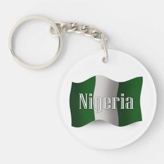 Nigeria Waving Flag Acrylic Key Chain