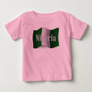 Nigeria Waving Flag Baby T-Shirt