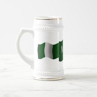 Nigeria Waving Flag Beer Stein