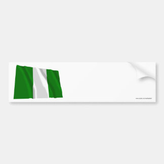 Nigeria Waving Flag Bumper Sticker