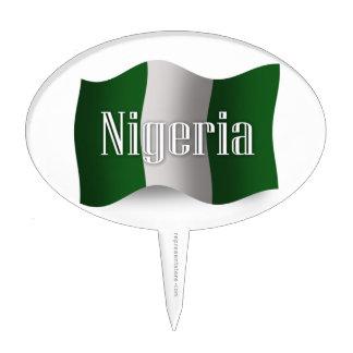 Nigeria Waving Flag Cake Topper
