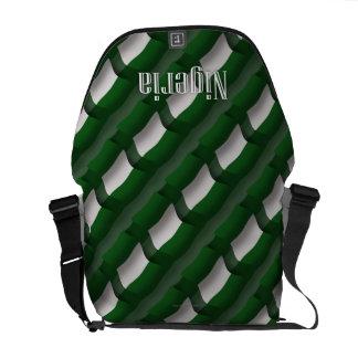Nigeria Waving Flag Courier Bags