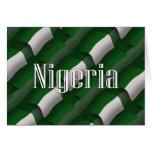 Nigeria Waving Flag Greeting Cards
