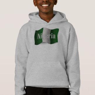 Nigeria Waving Flag Hoodie