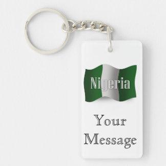 Nigeria Waving Flag Keychain