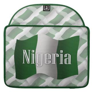 Nigeria Waving Flag MacBook Pro Sleeve