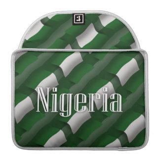 Nigeria Waving Flag Sleeve For MacBooks